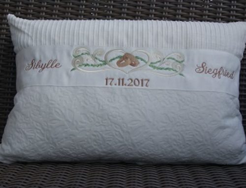 Hochzeitskissen für Sibylle und Siegfried…