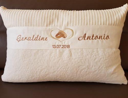Hochzeitskissen für Geraldine und Antonio…