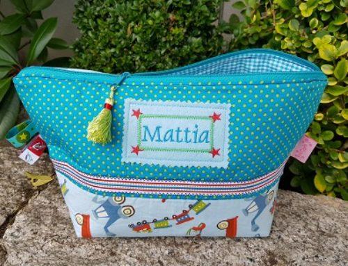Windeltasche- Kulturbeutel für Mattia :-)