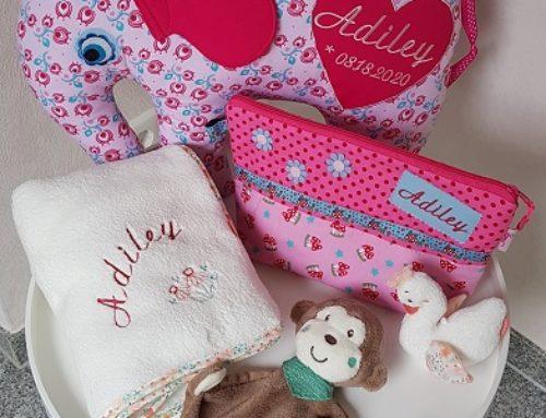 Geschenke zur Geburt für Adiley :-)
