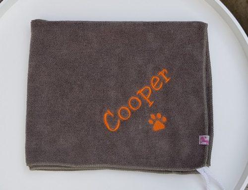 Pfötchentuch für Cooper und Dusty