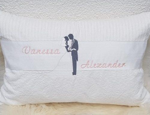 Hochzeitskissen für Vanessa und Alexander