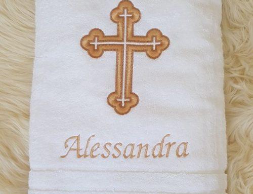 Taufhandtuch für Alessandra