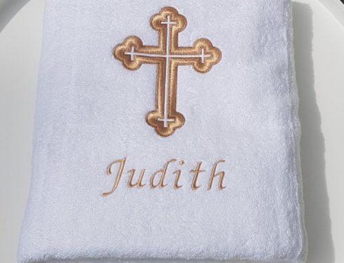 Taufhandtuch für Judith