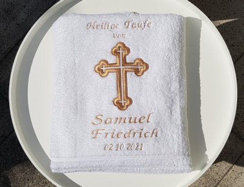 Taufhandtuch für Samuel Friedrich