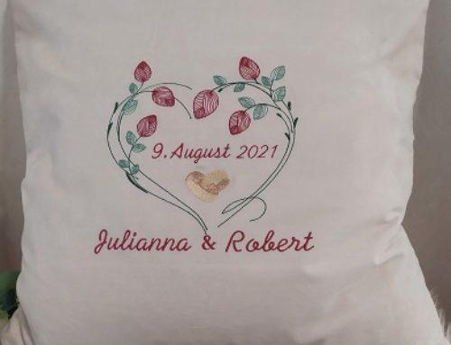 Hochzeitskissen für Julianna und Robert